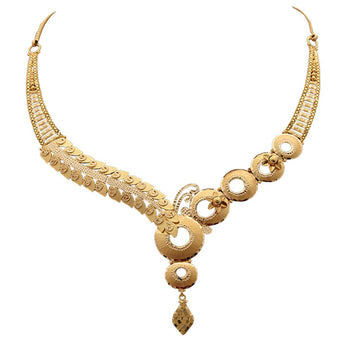 Khimji Gold Necklace- KD-NE0021