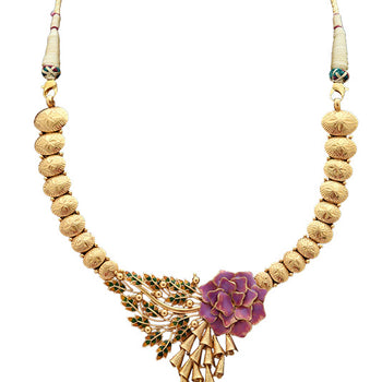 Khimji Gold Necklace- KD-NE0026