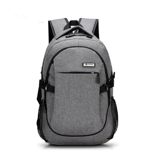 Men's backpack bag with external USB charger | waterproof