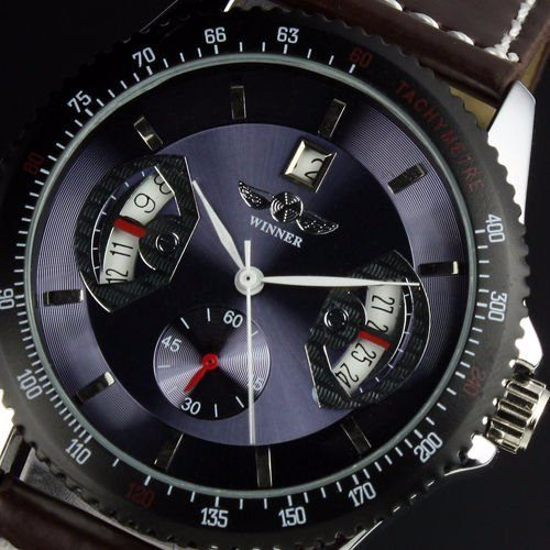 Automatic Mechanical Men Watch (Leather band)