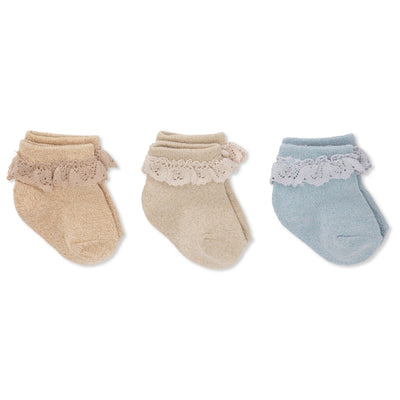 Konges Sløjd ApS 3 PACK LACE LUREX SOCKS SOCKS & STOCKINGS OCEAN EYES