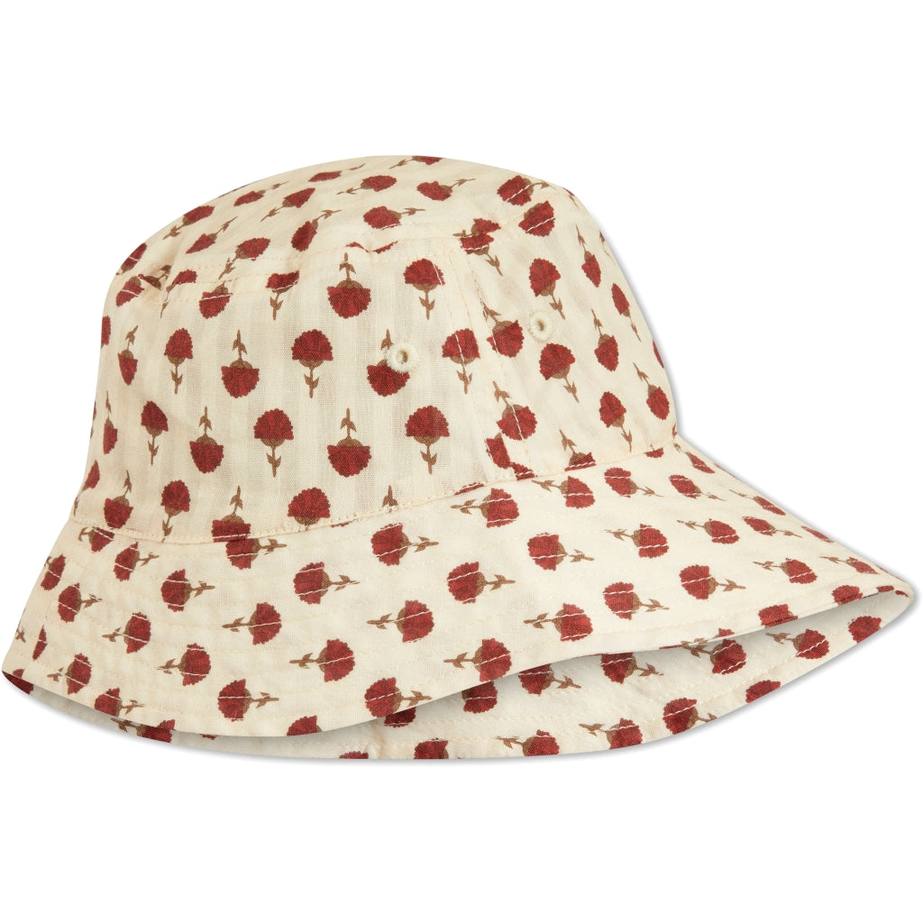 Konges Sløjd ApS ACACIA SUNHAT ACCESSORIES POPPYFLOWER RED