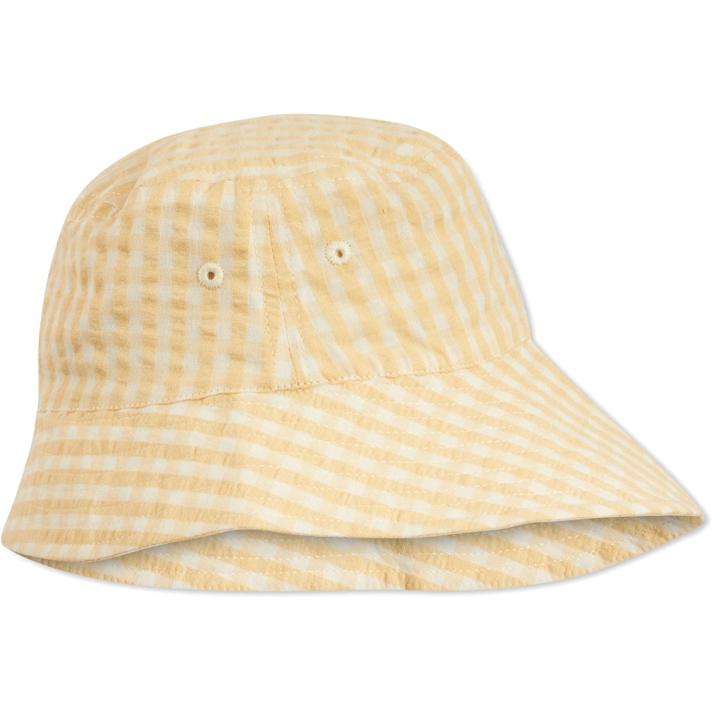 Konges Sløjd ApS ACACIA SUNHAT ACCESSORIES YELLOW CHECK