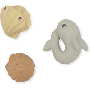 Konges Sløjd ApS BATH TOYS OCEAN IN & AFTER BATH WHALE/SHELL/CLAM