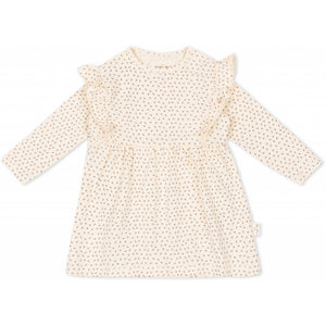 Konges Sløjd ApS HYGSOFT DRESS DRESSES TINY CLOVER BEIGE