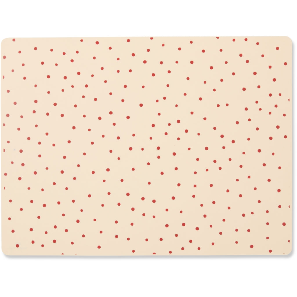 Konges Sløjd ApS PLACEMAT SILICONE PLACEMATS RASPBERRY/RED DOT