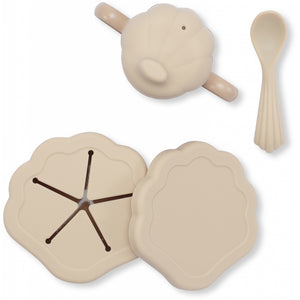 Konges Sløjd ApS SILICONE CLAM SET TABLEWARE SHELL
