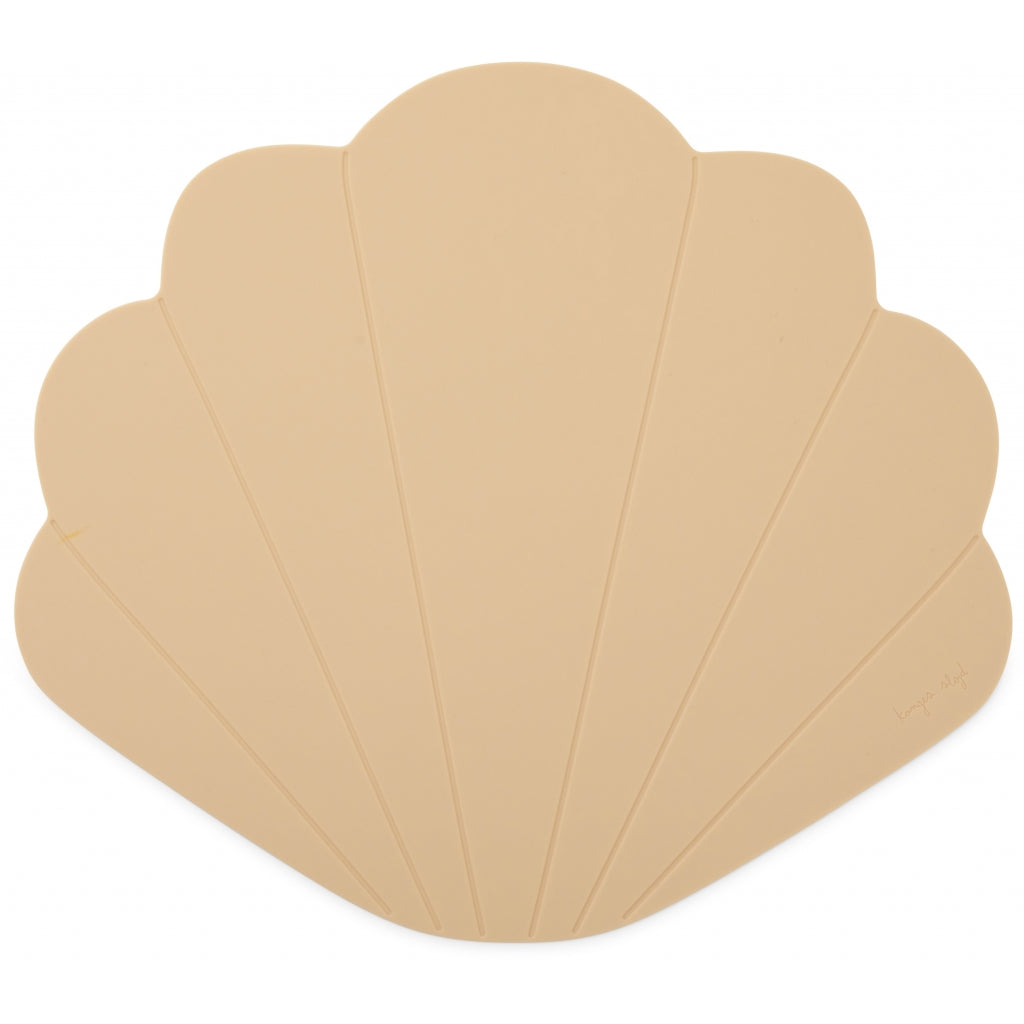 Konges Sløjd ApS SILICONE PLACEMAT CLAM TABLEWARE SHELL