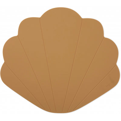 Konges Sløjd ApS SILICONE PLACEMAT CLAM TABLEWARE TERRA COTTA
