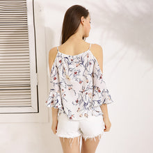 Floral Off-Shoulder Print Blouse - JSEJ Styles