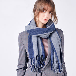 Striped Winter Scarf - JSEJ Styles