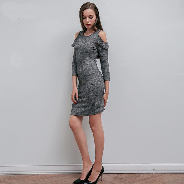 Bodycon Knitted Dress - JSEJ Styles