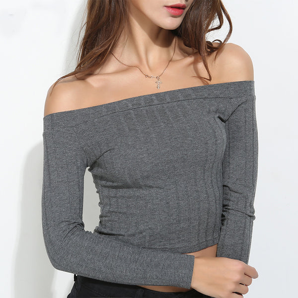 Off Shoulder Crop Top - JSEJ Styles