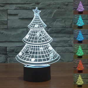 Colorful Christmas Tree 3D Table Lamp - JSEJ Styles