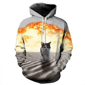 3D Cool Cat Sweatshirt - JSEJ Styles