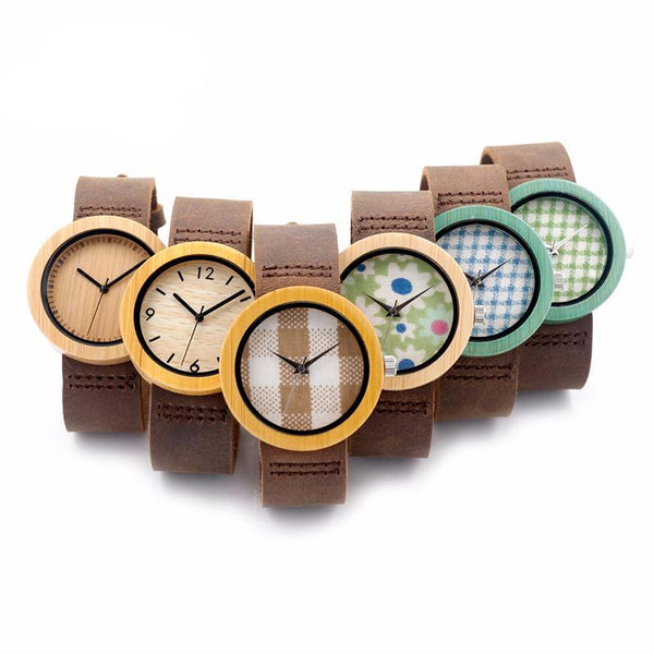 Bamboo Wood Watch Women - JSEJ Styles