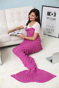 Handmade Mermaid Wool Blanket - JSEJ Styles