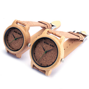 M12 Couple Bamboo Wood Quartz - JSEJ Styles
