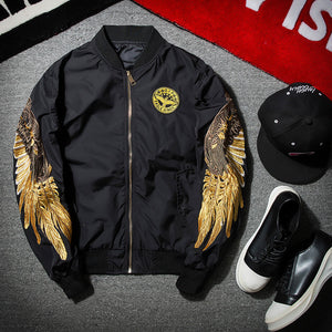 Black Embroidery Bomber Jacket - JSEJ Styles