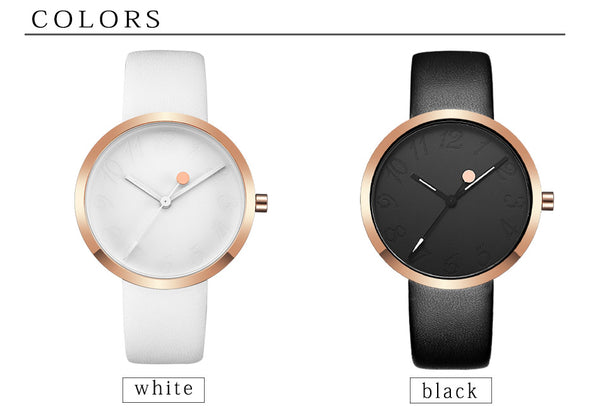 Elegant Leather Strap Quartz Watch - JSEJ Styles