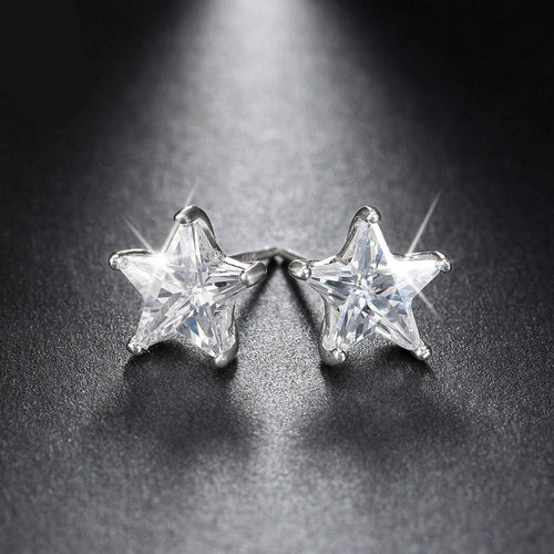 Lustrous Star 925 Silver Earrings - JSEJ Styles