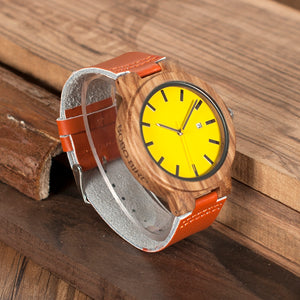 Wood Watch Quartz Men - JSEJ Styles