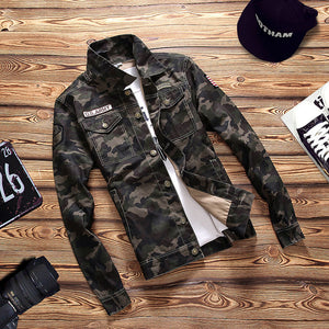 Camouflage Army Bomber Jacket - JSEJ Styles