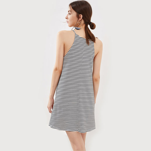 Black and White Cami Dress - JSEJ Styles