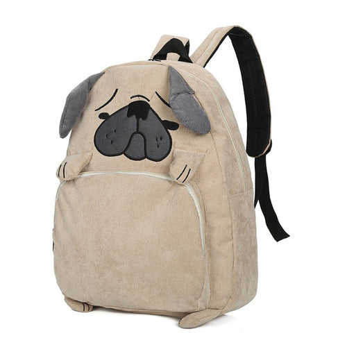 Cute Dog/Fox Cartoon School Backpack