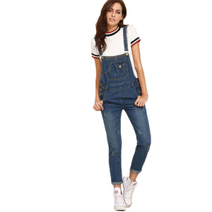 Scratch Denim Overall Jumpsuit - JSEJ Styles