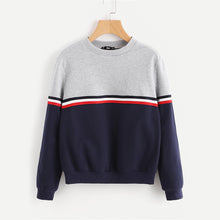 Striped Two Tone Pullover - JSEJ Styles