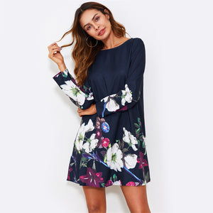 Flower Print Dress - JSEJ Styles