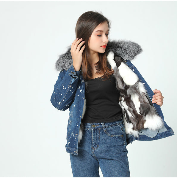 Denim Fur Jacket - JSEJ Styles