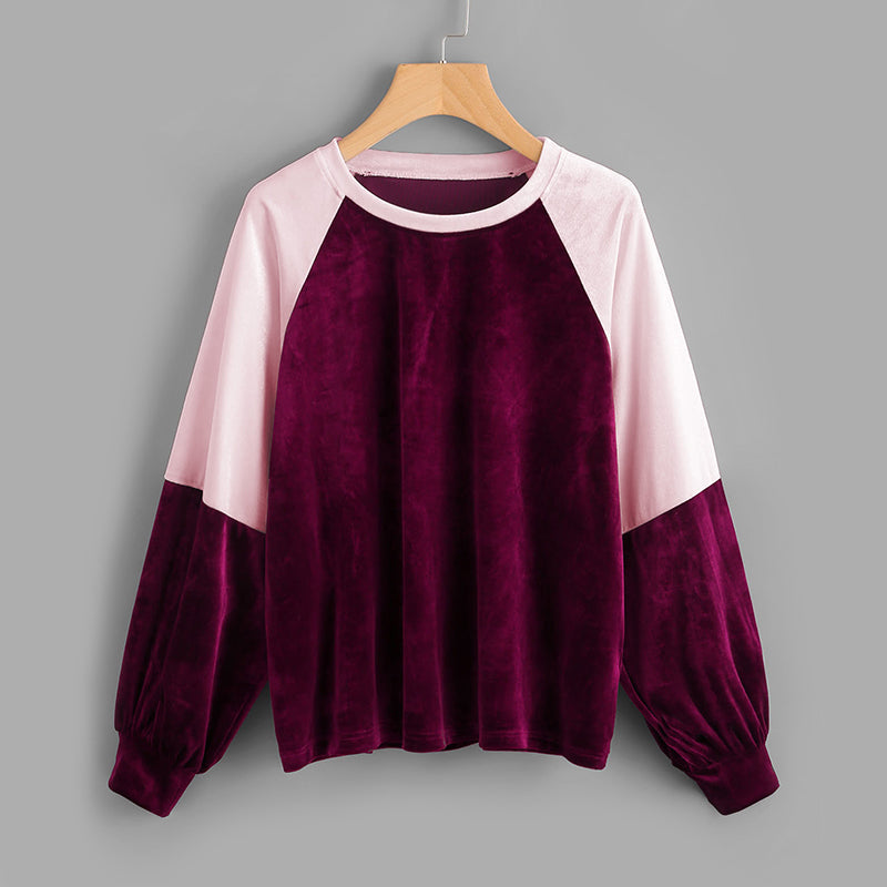 Two Tone Raglan Pullover - JSEJ Styles