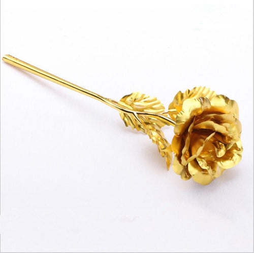 Foil Plated Rose Gold Rose - JSEJ Styles