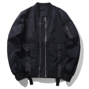 Black Out Bomber Jacket - JSEJ Styles