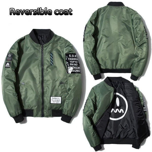 Two-Sided Baseball Jacket - JSEJ Styles