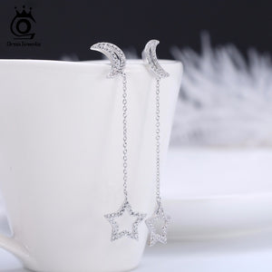 Moon Star 925 Sterling Earrings - JSEJ Styles