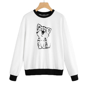 Contrast Trim Cat Pullover - JSEJ Styles