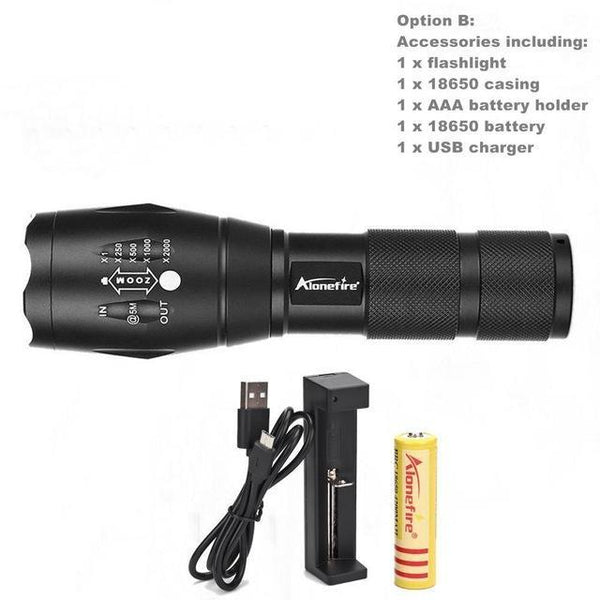Rigel Alonefire® Ultra Bright Handheld LED Tactical Flashlight - JSEJ Styles