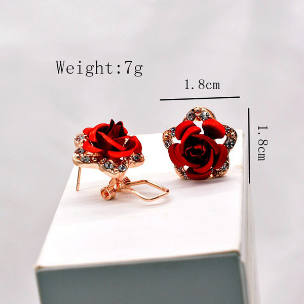 Fine Jewelry Fashion Rose Earrings - JSEJ Styles