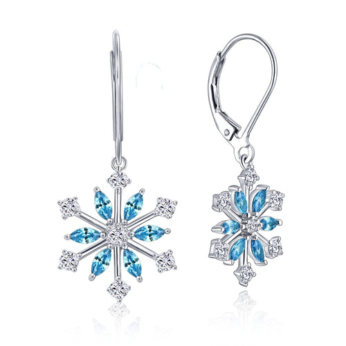 Snowflake 925 Sterling Silver Earrings - JSEJ Styles