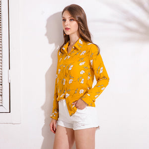 Sweet Floral Print Blouse - JSEJ Styles