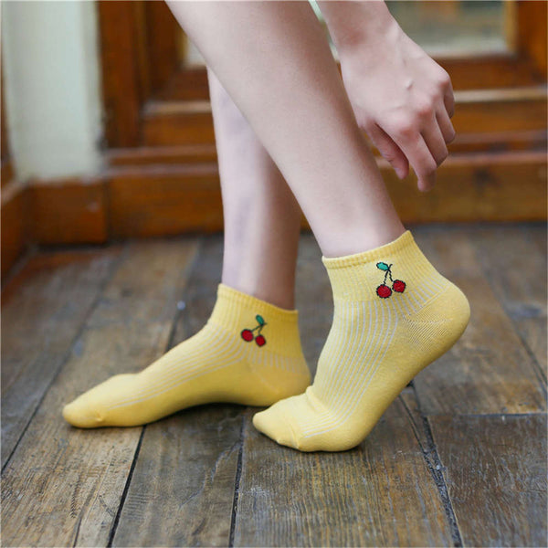 Summer Thin Fruit Socks - JSEJ Styles