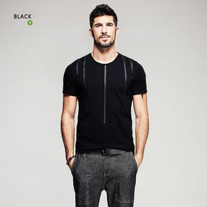 Vision Black Striped T-Shirt - JSEJ Styles