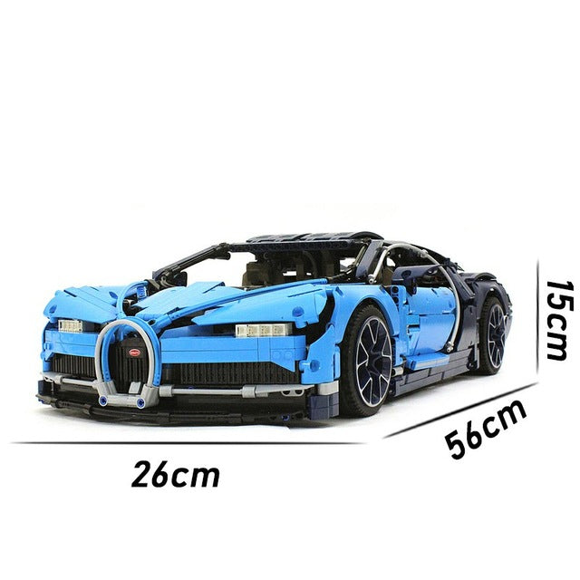 Racing Car Bugatti Chiron Building Blocks - JSEJ Styles