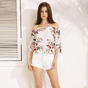 Sweet Spring Off Shoulder Blouse - JSEJ Styles