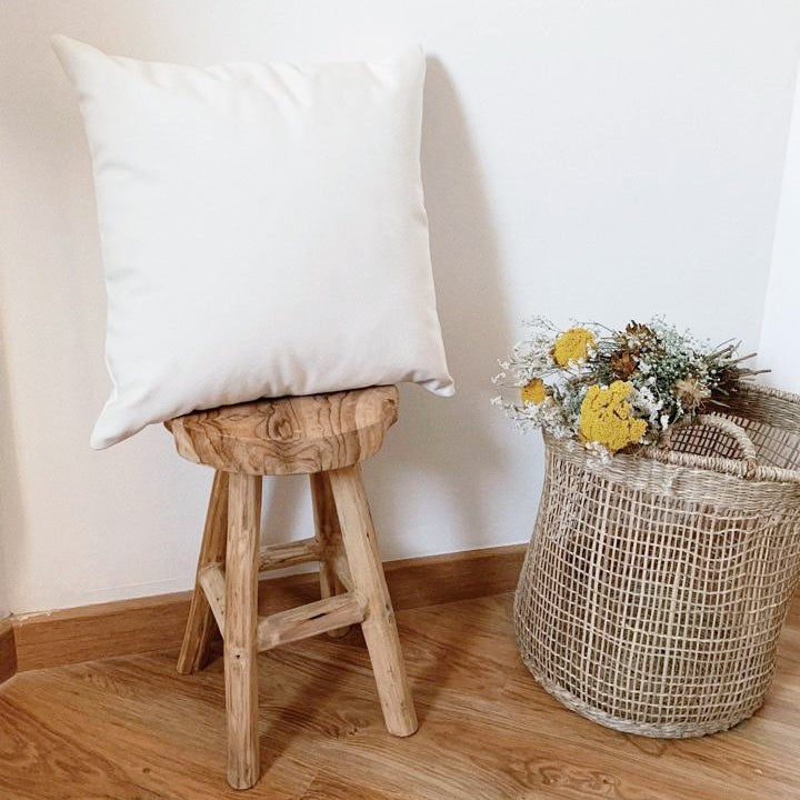 White Dahlia Cushion