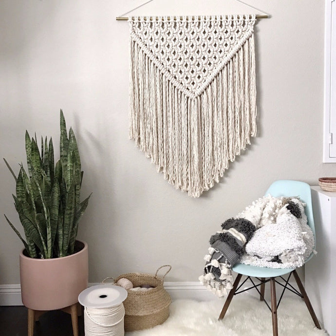 Macramé estilo nórdico triangular