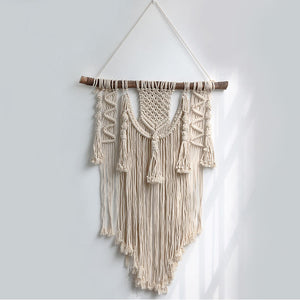 Macramé decorativo de pared estilo Boho